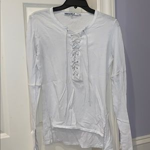 S lace up long sleeve